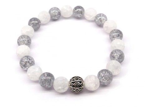 Védelmező, auratisztító, gyógyulást segítő kristálykarkötő LSNK0193_3